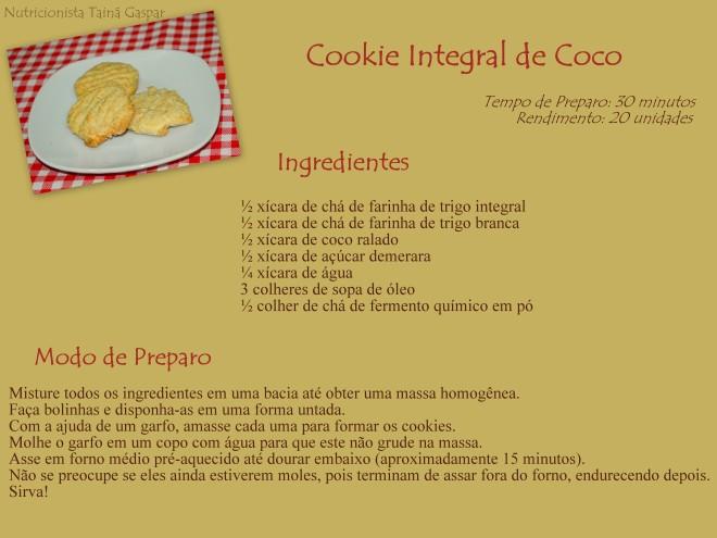 Cookie Integral de Coco