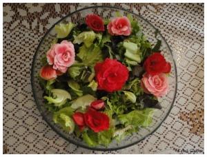 Salada Folhas Verdes e Flores