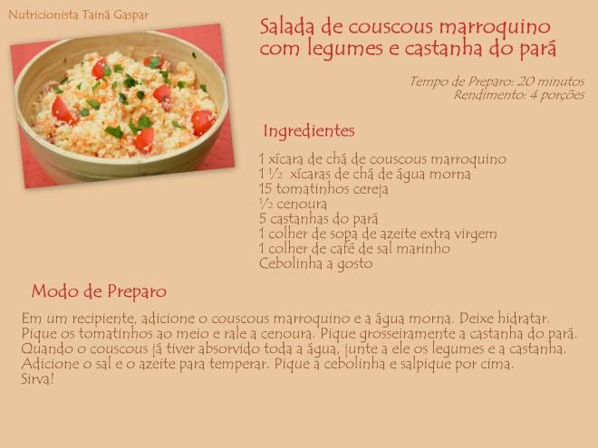 salada de couscous marroqui