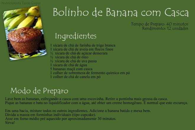Bolinho de Banana com Casca