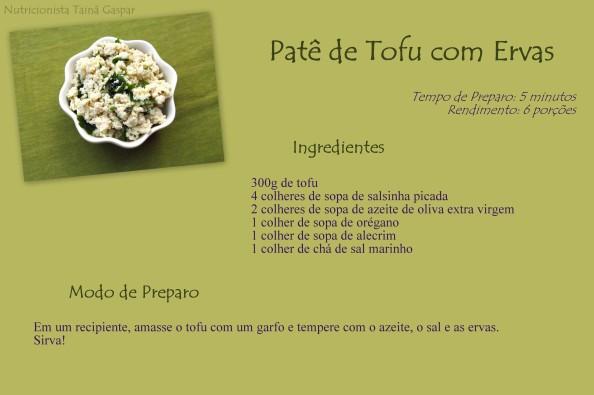 Patê de Tofu com Ervas