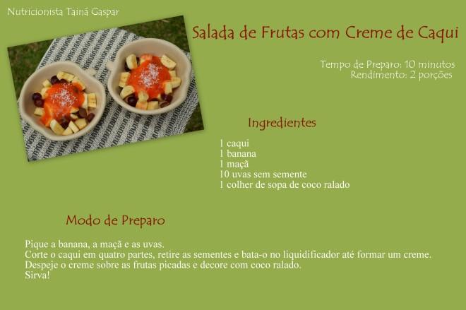 Salada de Frutas com Creme de Caqui