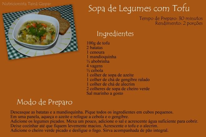 Sopa de Legumes com Tofu