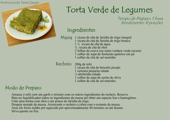 Torta Verde de Legumes