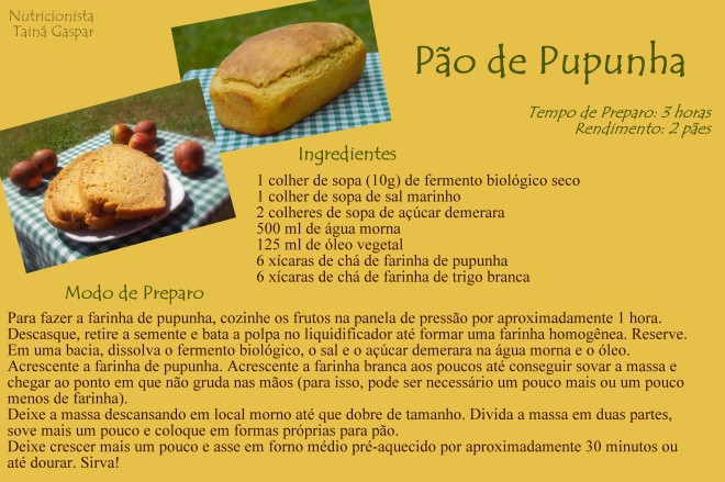 Pão de Pupunha